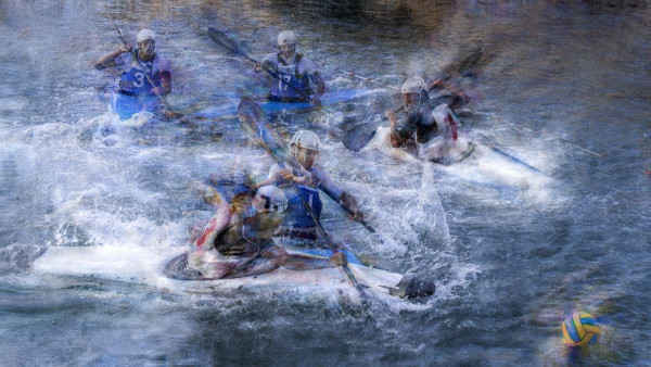 Duel kayak polo - Pierre Jean Lipira - ACAPI